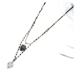 Free People Stone Charm Necklace
